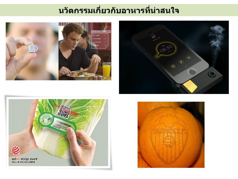นวัตกรรมเกี่ยวกับอาหารที่น่าสนใจ