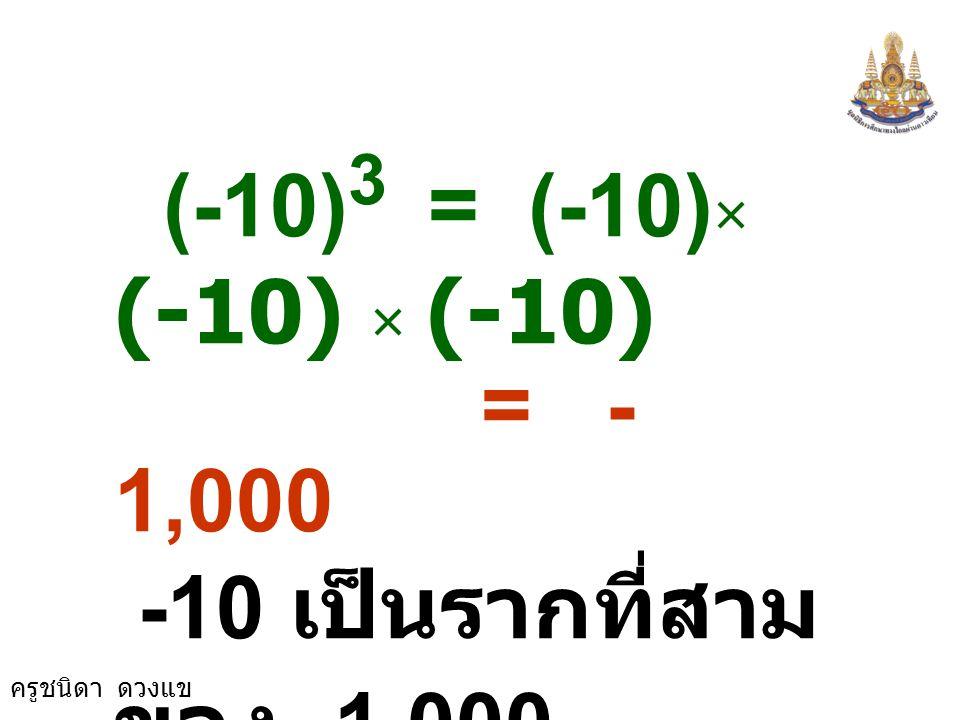 พิจารณาตัวอย่าง 7 3 = 7 × 7 × 7 = 343 7 เป็นรากที่สาม ของ 343