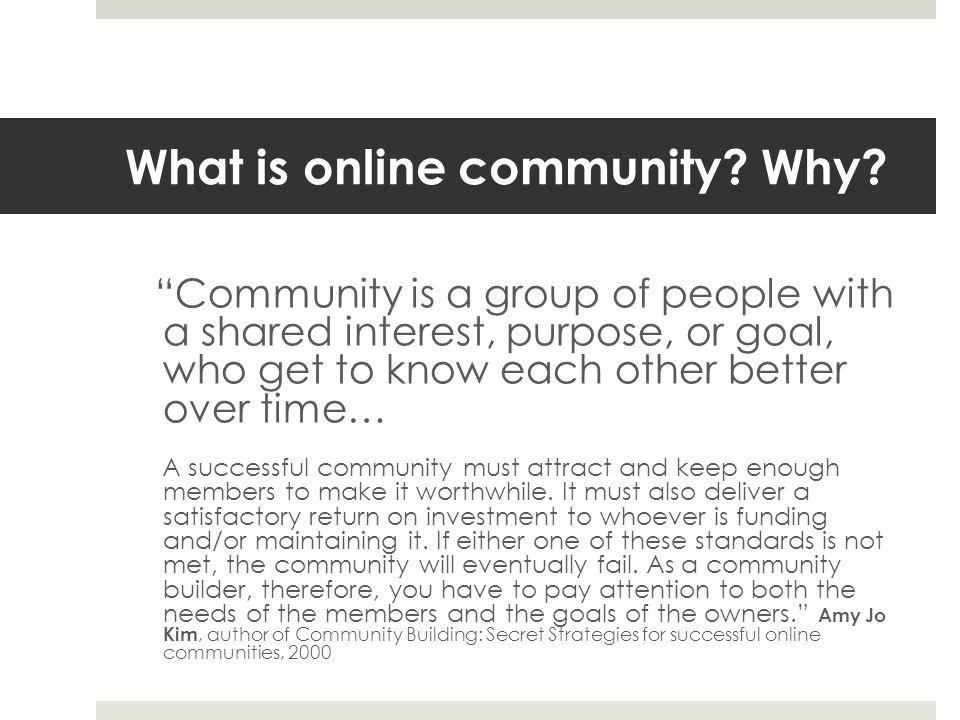 Community already exist. Communities already exist.
