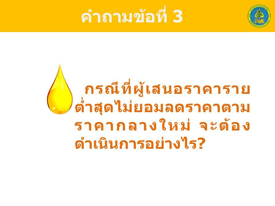 คำถามข้อที่ 4 กรณี 1.2.2 หน่วยงาน จะต้องจัดทำราคากลาง ใหม่ให้ สงป.