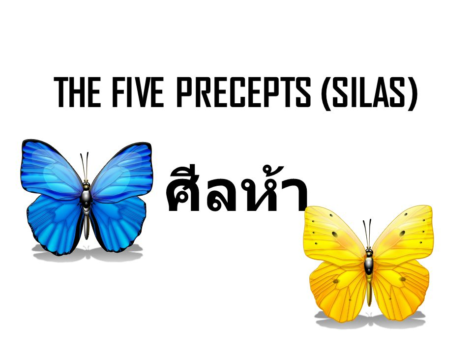 THE FIVE PRECEPTS (SILAS) ศีลห้า