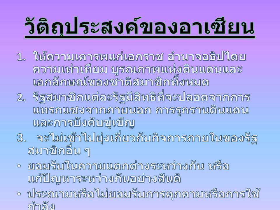 ประเทศ ไทย กัมพูชา อินโดนีเ ซีย ลาว พม่า เวียดนาม มาเลเซียบรูไ น ฟิลิปปินส์ สิงค์โปร์