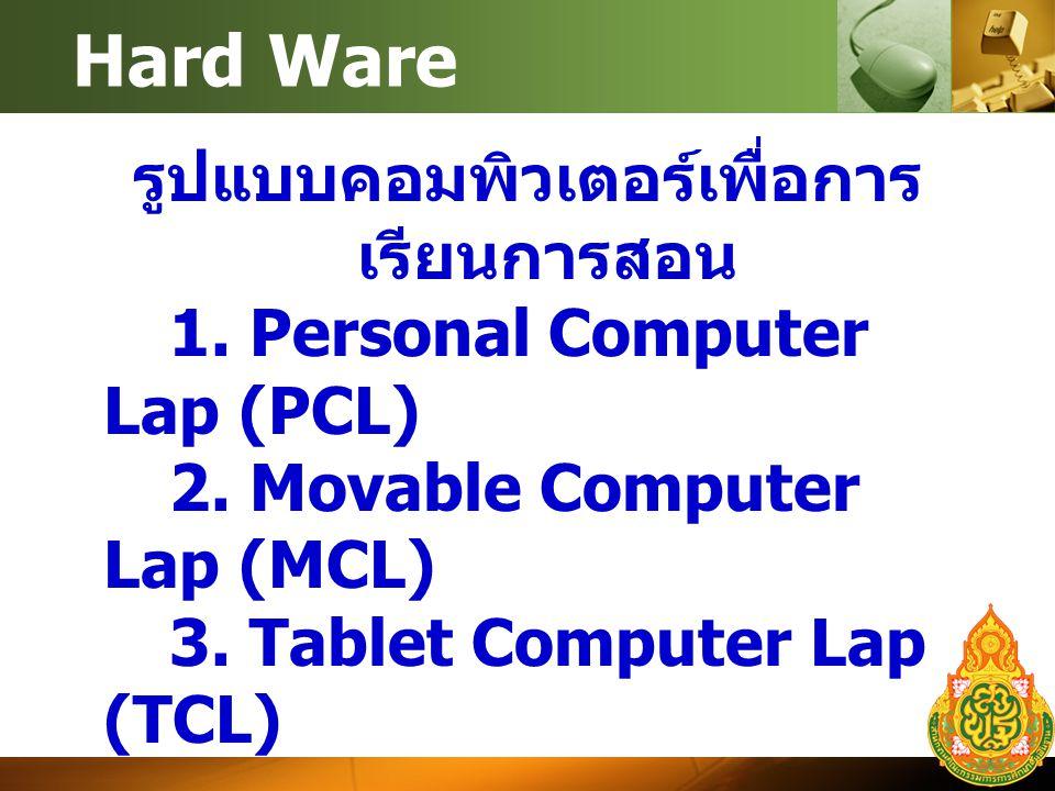 Hard Ware รูปแบบคอมพิวเตอร์เพื่อการ เรียนการสอน 1.