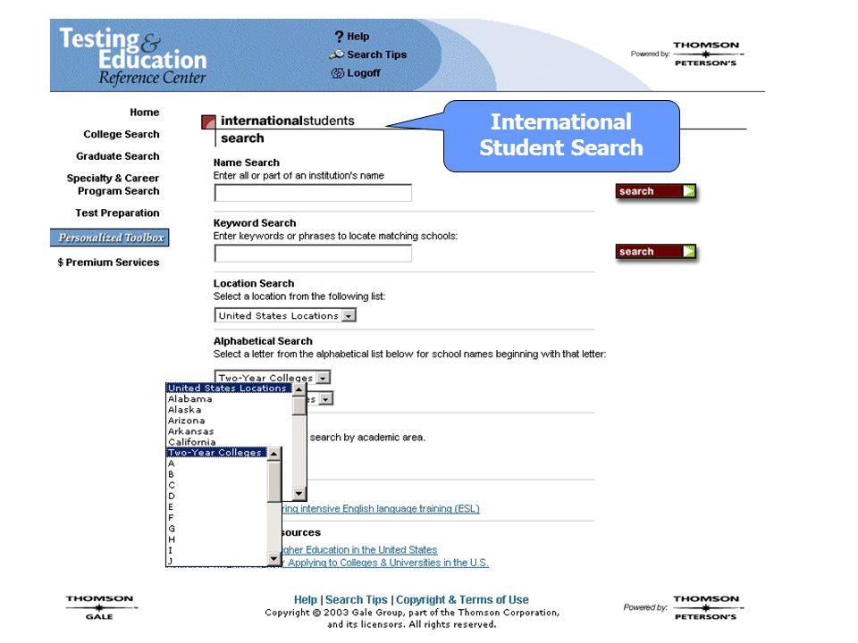 International Student Search