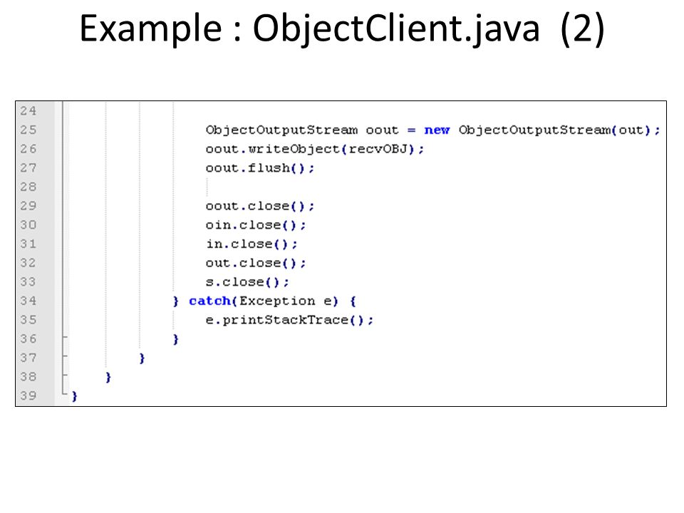 Example : ObjectClient.java (2)