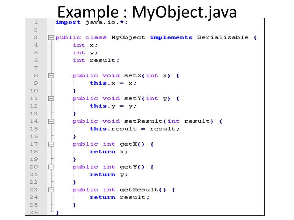 Example : ObjectServer.java