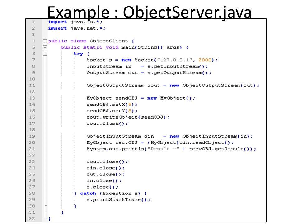 Example : ObjectClient.java (1)