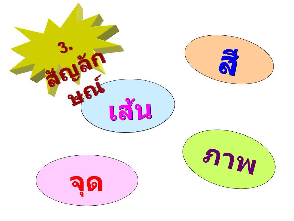สี จุด เส้น ภาพ 3. สัญลัก ษณ์