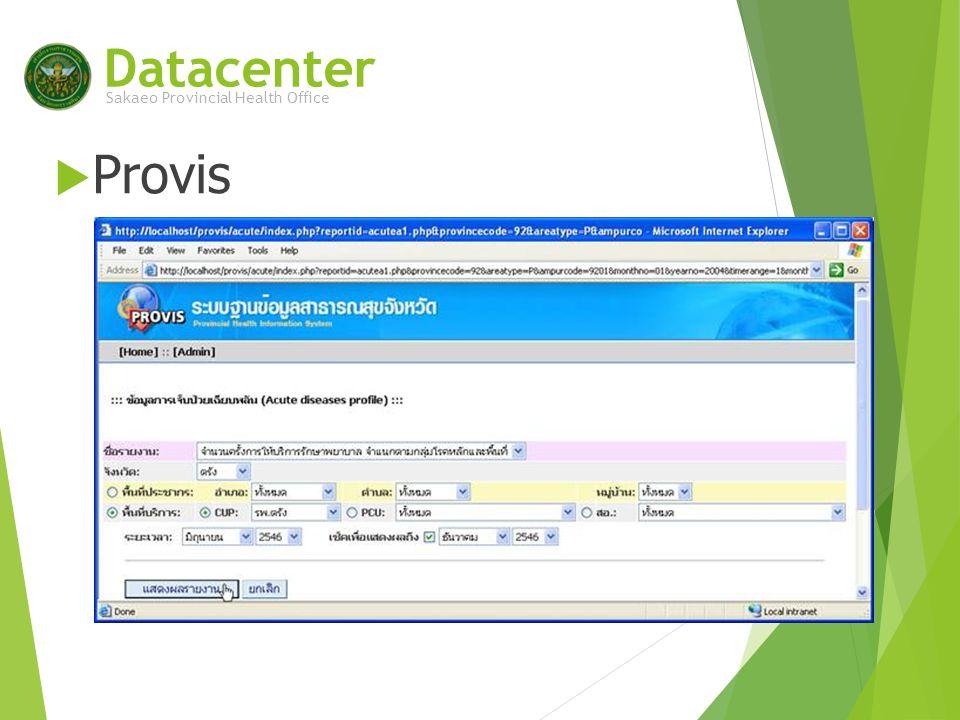 SAKAEO EHR data flow HIS database Data Synchronize Software Zip file format Datacenter Import Zip files to database 21/43 แฟ้ม Central database National central database Sakaeo Provincial Health Office หน่วยบริการสสจ.