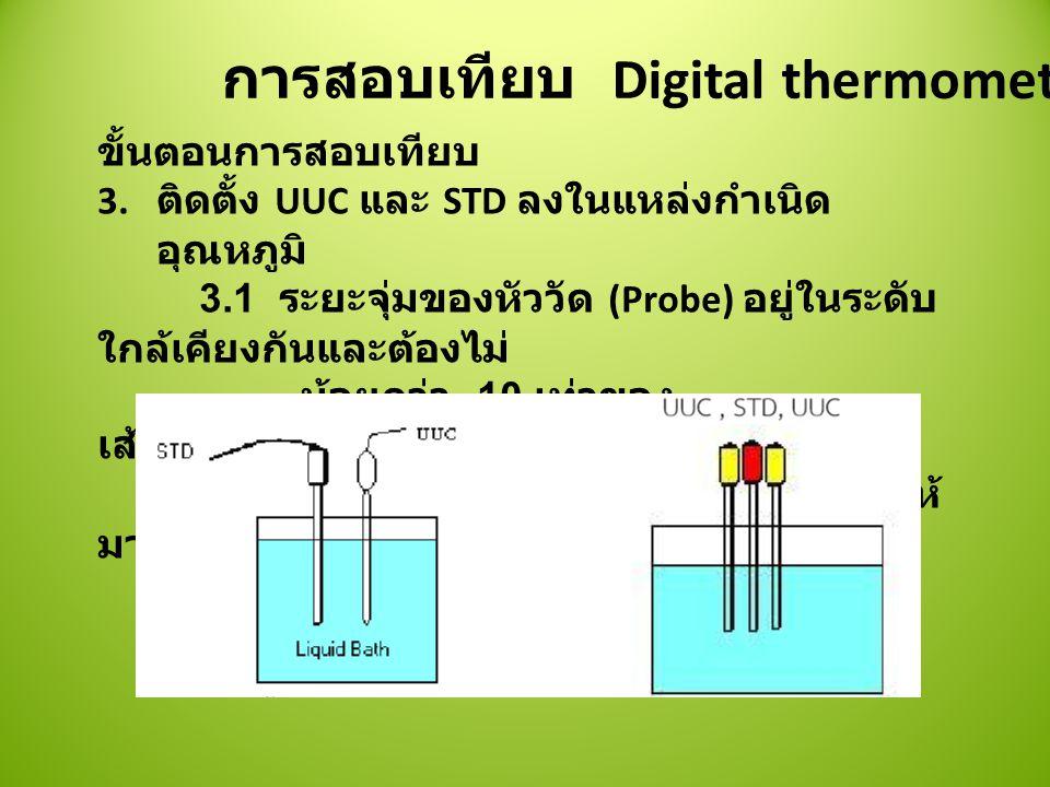 การสอบเทียบ Digital thermometer ขั้นตอนการสอบเทียบ 3.