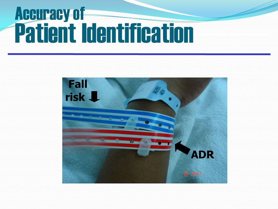 Fall risk ADR Accuracy of Patient Identification