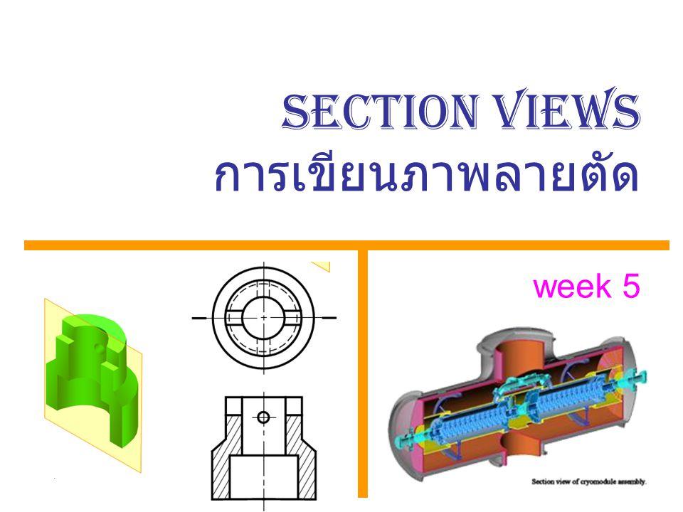SECTION VIEWS การเขียนภาพลายตัด week 5