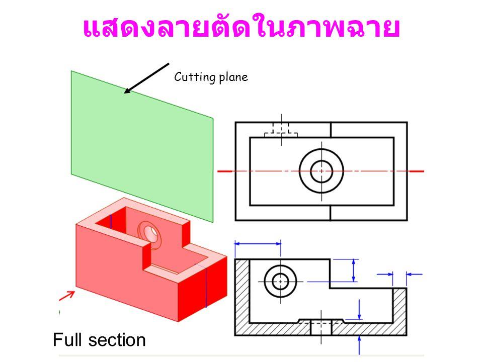 Cutting plane แสดงลายตัดในภาพฉาย Full section