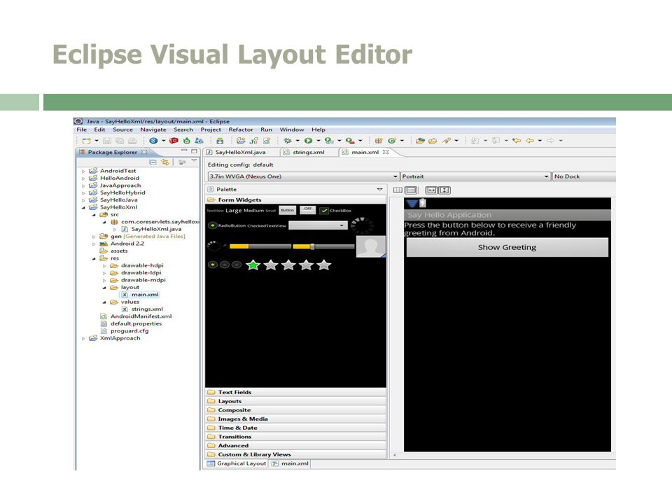 Eclipse Visual Layout Editor