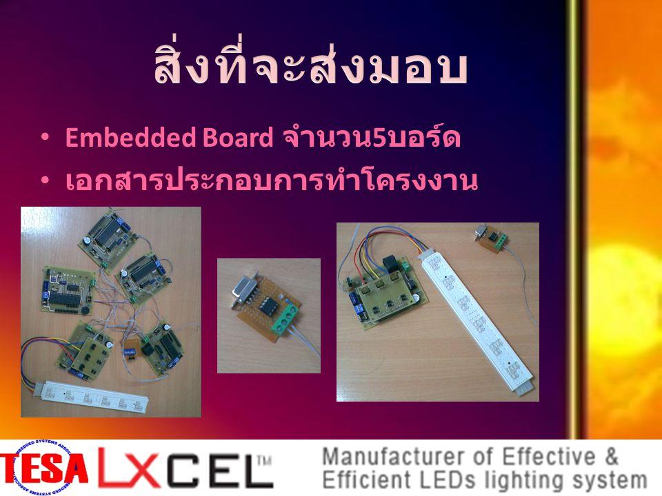 Embedded Board จำนวน 5 บอร์ด เอกสารประกอบการทำโครงงาน