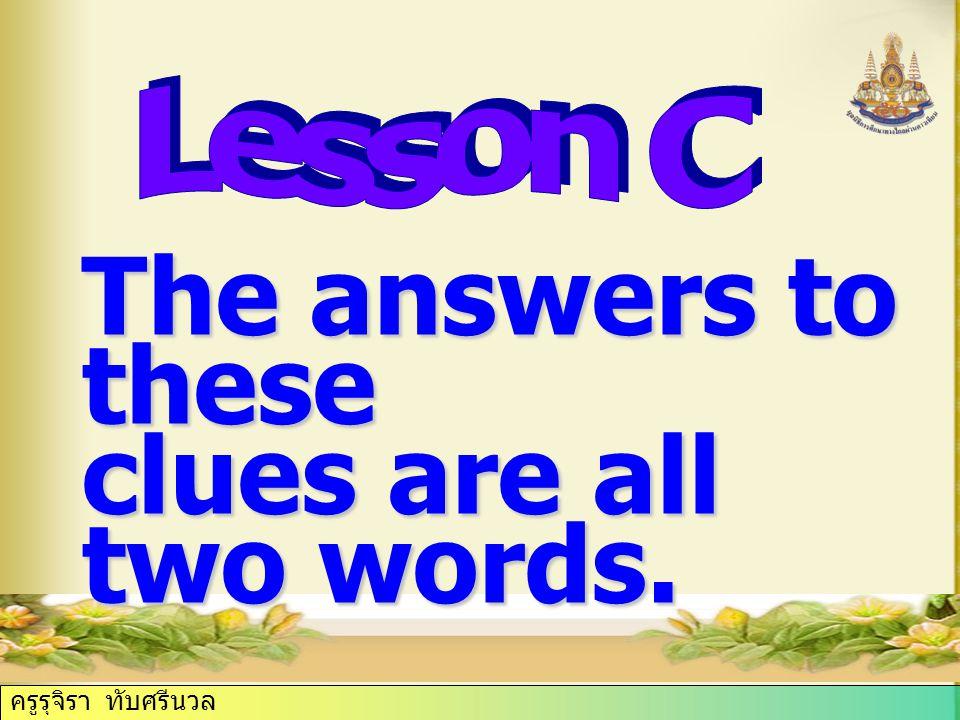 ครูรุจิรา ทับศรีนวล The answers to these clues are all two words.