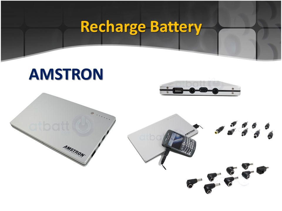 Recharge Battery AMSTRON