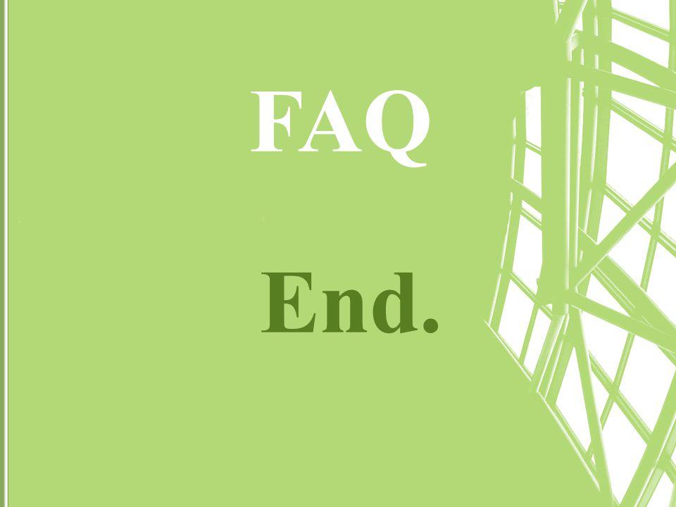 End. FAQ