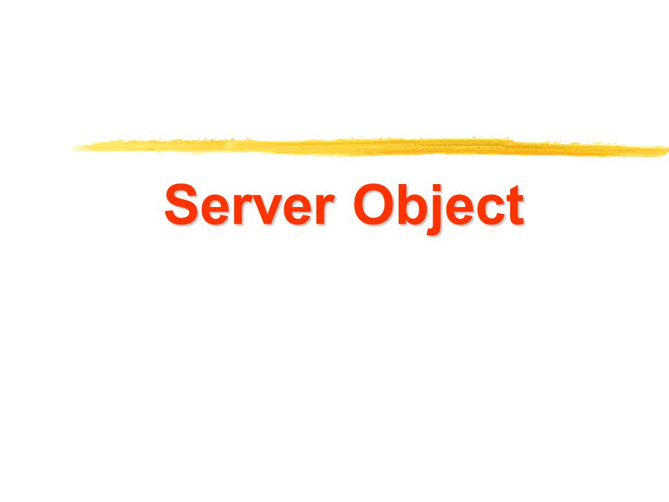 12 Server Object Properties z มีแบบเดียวคือ ScriptTimeout ซึ่งจะใช้ กำหนดเวลา ( ในหน่วยวินาที ) ว่าเซิร์ฟเวอร์ ควรจะต้องประมวลผลนานที่สุดเท่าใด ทั้งนี้ เพื่อป้องกันไม่ให้เกิดการประมวลผลที่ไม่มี ที่สิ้นสุด  or 