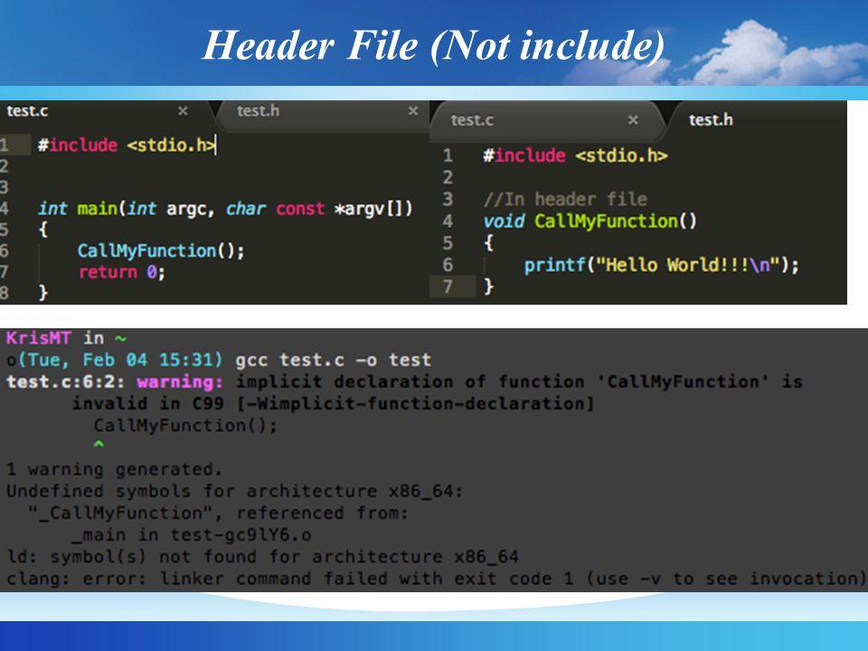 Header File (Include Header File)