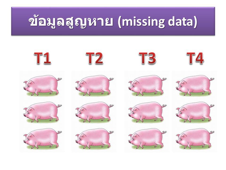 ข้อมูลสูญหาย (missing data)