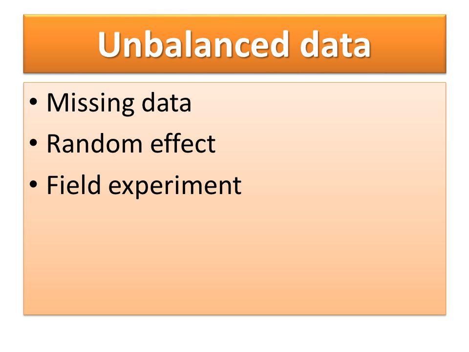 การวิเคราะห์งานทดลองที่มี ข้อมูลสูญหาย ประเมินค่าสูญหาย ใช้ general linear model (GLM) ประเมินค่าสูญหาย ใช้ general linear model (GLM)