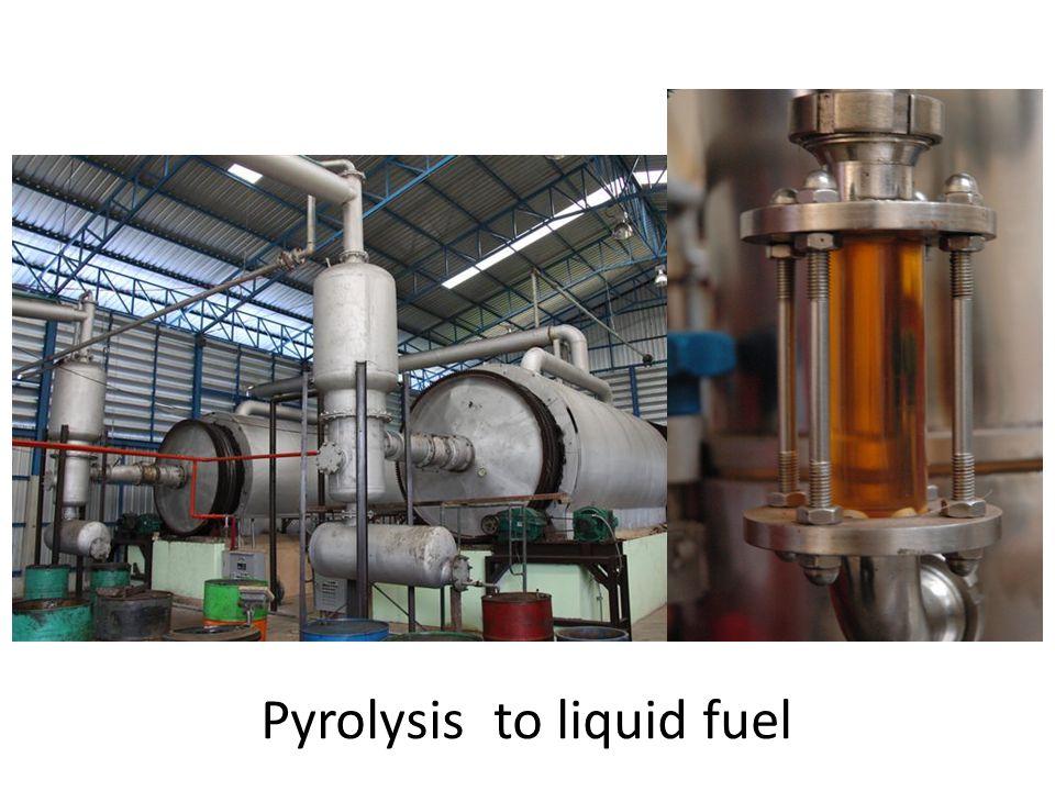 Pyrolysis to liquid fuel