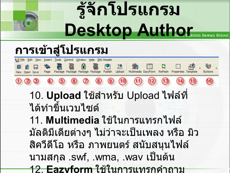 รู้จักโปรแกรม Desktop Author การเข้าสู่โปรแกรม desktop author 10.
