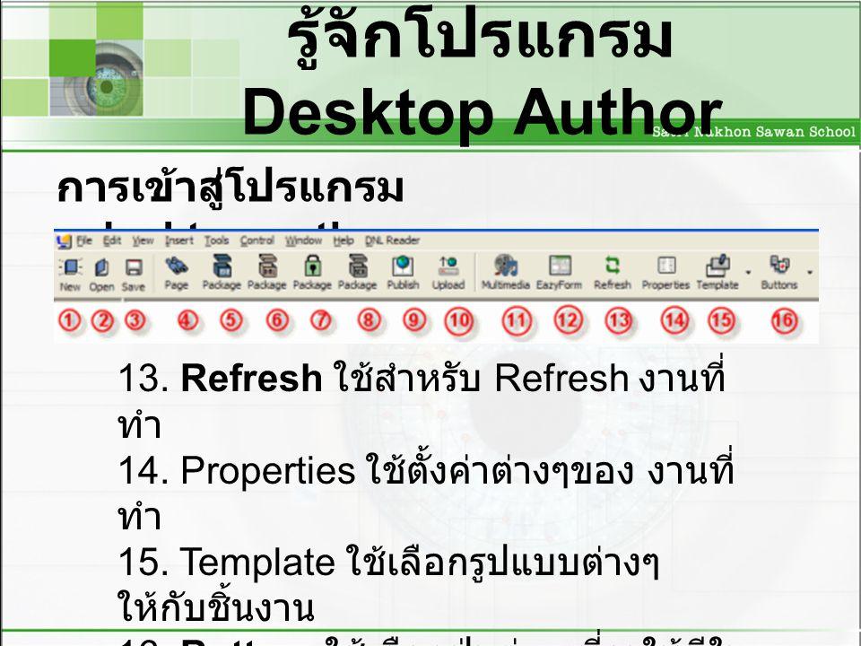 รู้จักโปรแกรม Desktop Author การเข้าสู่โปรแกรม desktop author 13.
