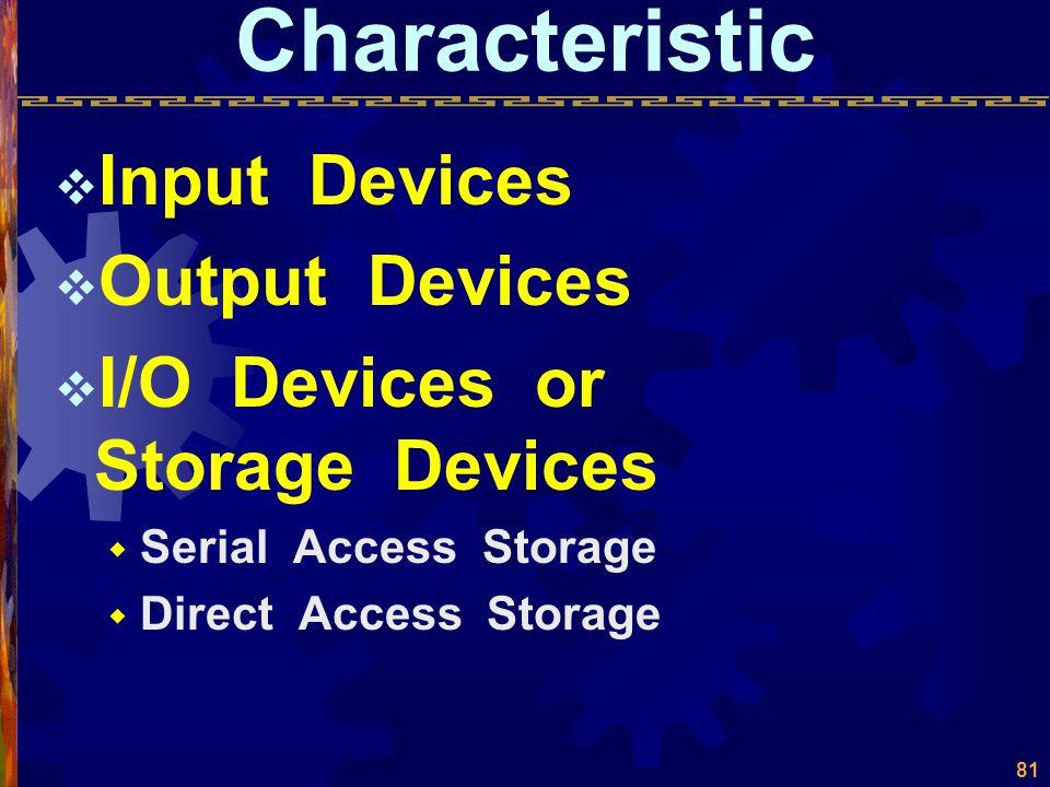 Device Management  Device Characteristic  Techniques