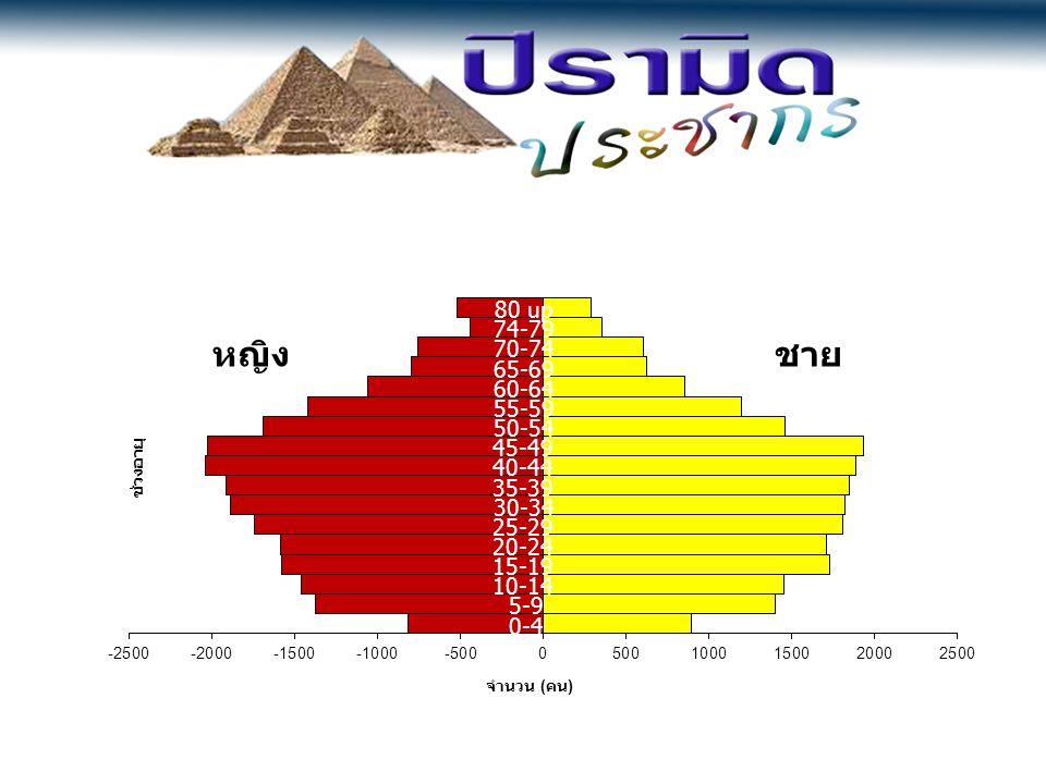 หญิงชาย 0-4 5-9 10-14 15-19 20-24 25-29 30-34 35-39 40-44 45-49 50-54 55-59 60-64 65-69 70-74 74-79 80 up