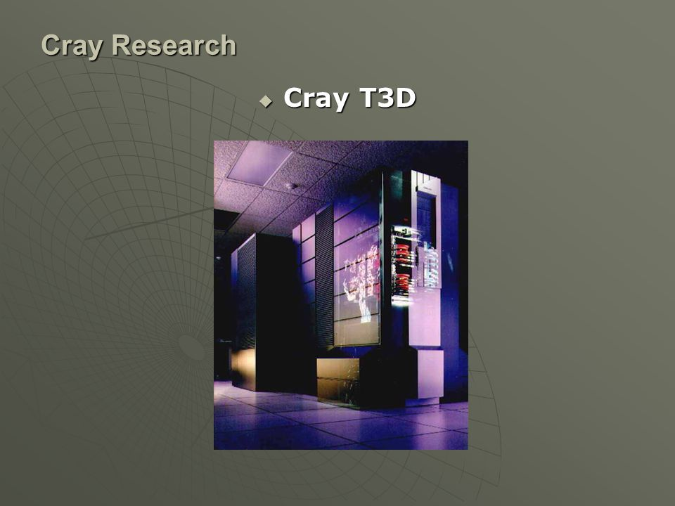 Cray Research  Cray T3D