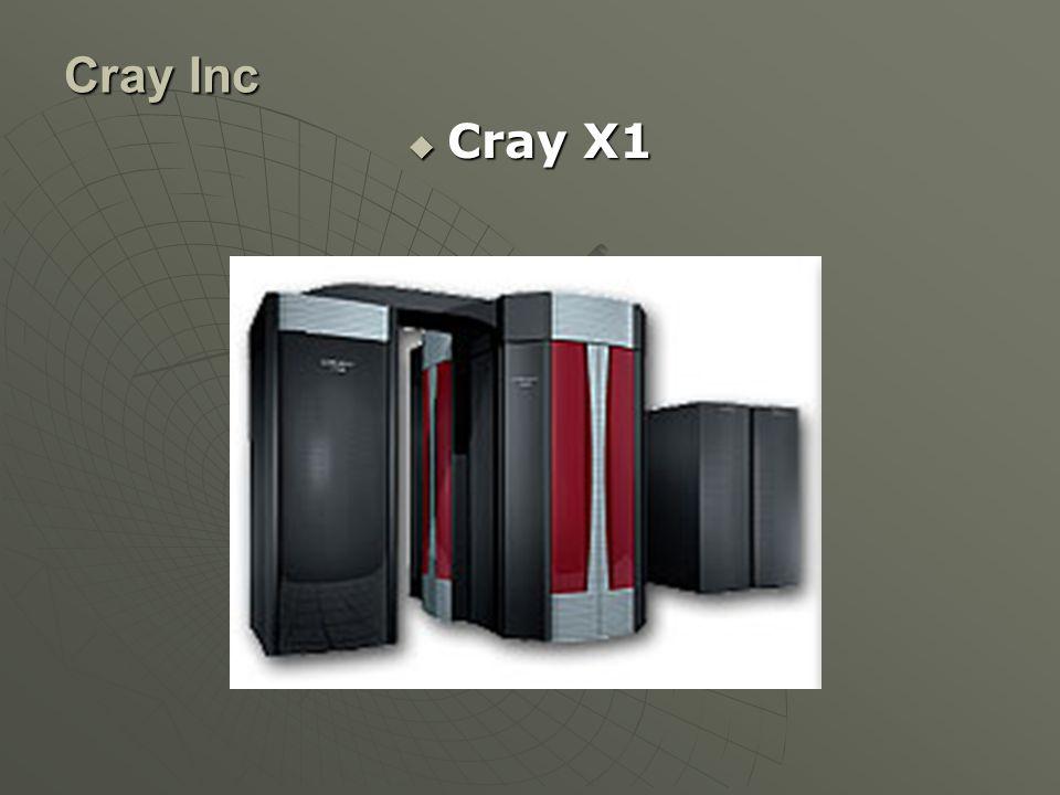 Cray Inc  Cray X1