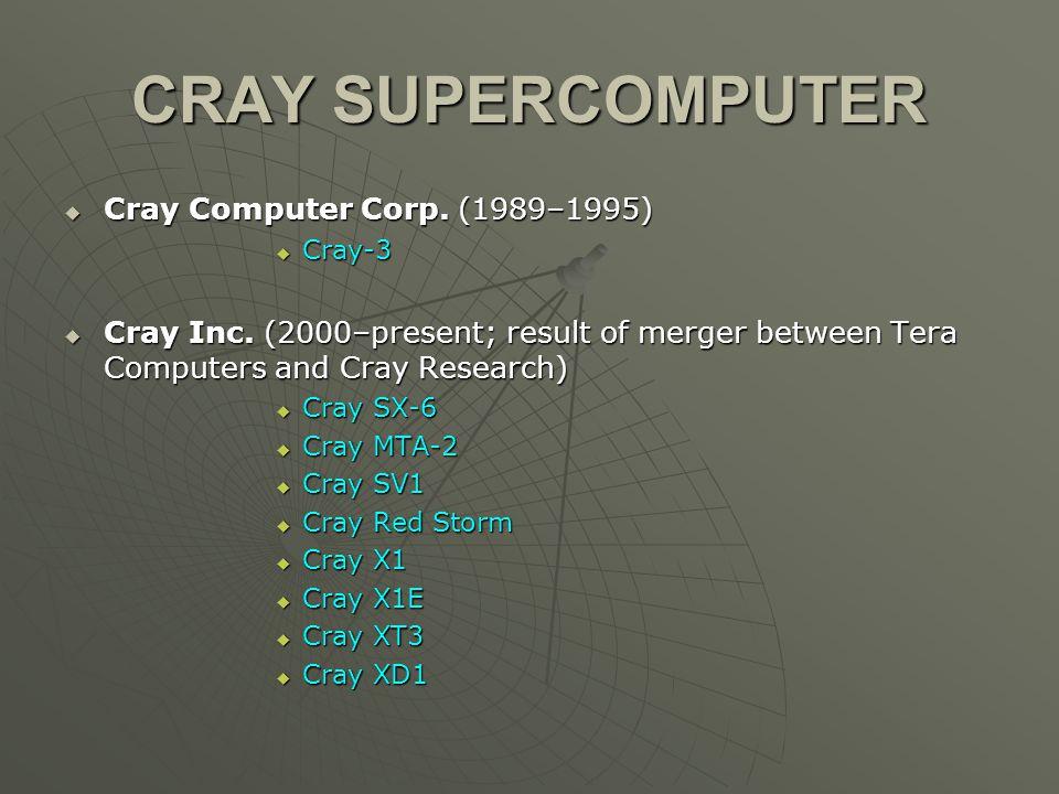 Cray Inc  Cray XD1