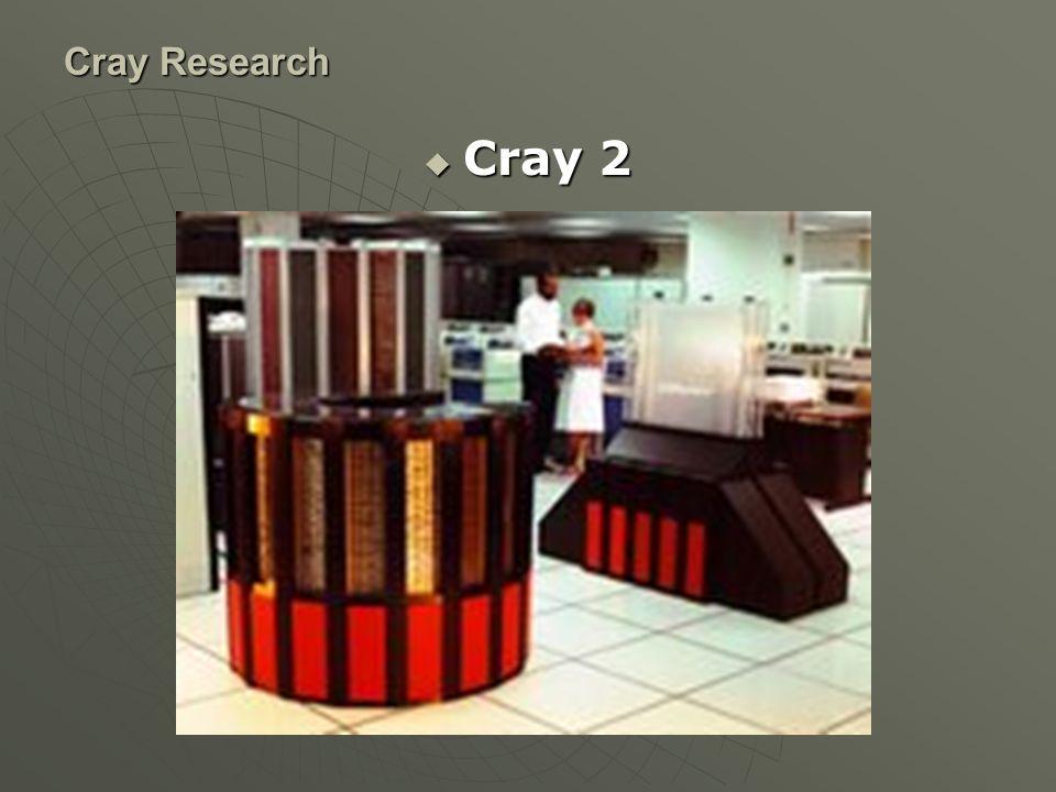 Cray-2 เป็น vector supercomputer ซึ่งถูกนำเสนอโดย Cray Research ในปี 1985 โดยจัดว่าเป็นเครื่องที่มีความเร็วที่สุดในโลกในขณะนั้น แทนที่รุ่น X- MP Cray Research ModelBackground processorsMemory Mwords 264 SRAM MOS 2126 SRAM MOS 4128 SRAM MOS 4256 DRAM MOS 4512 DRAM MOS รุ่นต่างๆที่ทำการผลิตออกมา