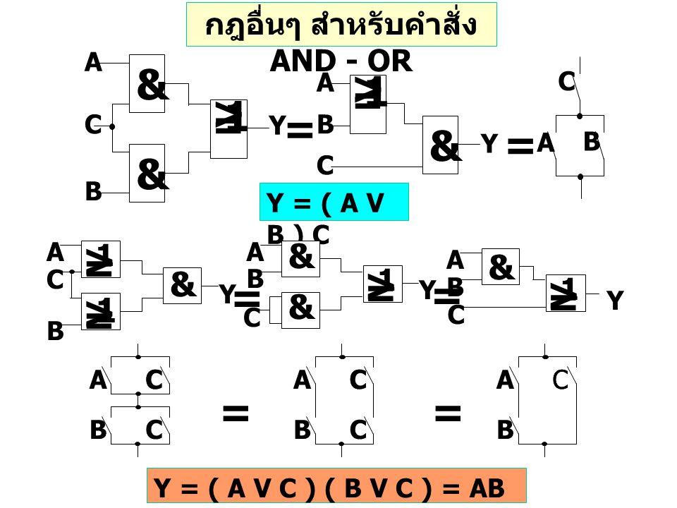 Y = ( A V B ) C > = 1 & A B C Y & & > = 1 A C B Y A B C = = > = 1 > = 1 & A C B Y & & > = 1 A B C Y & > = 1 Y A B C = = A B C C CA B C C CA B CC == Y