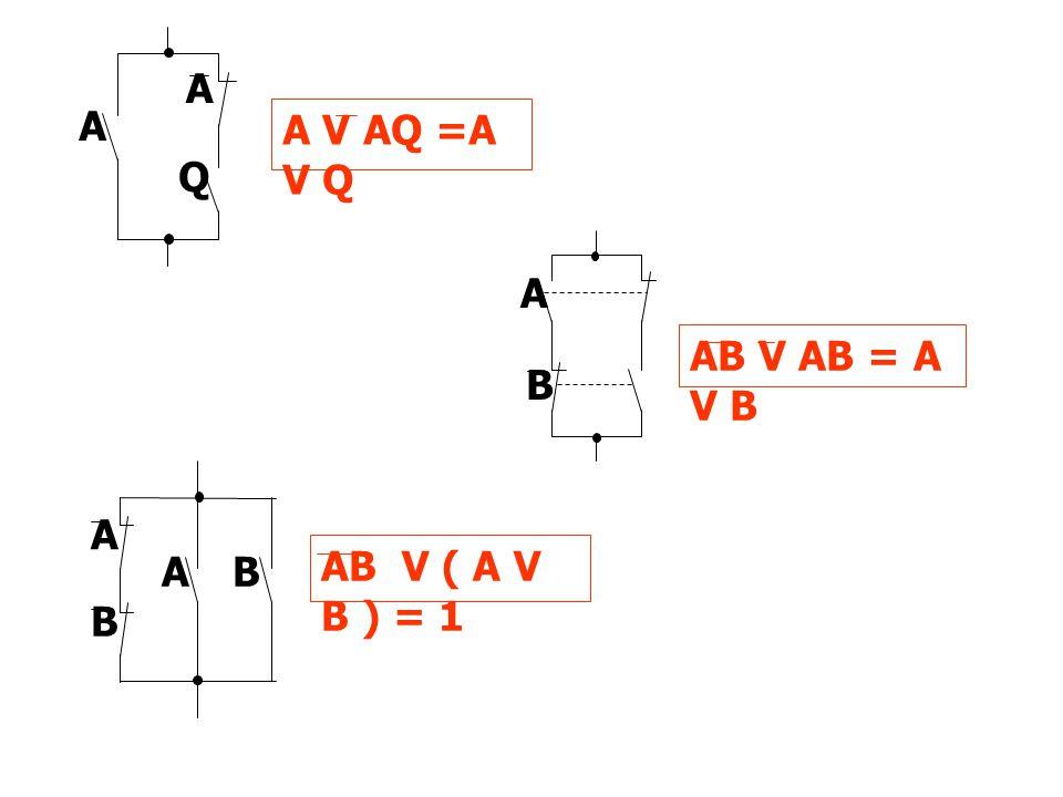 A V AQ =A V Q A A Q A B AB V AB = A V B B AB A AB V ( A V B ) = 1