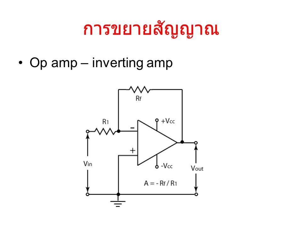 การขยายสัญญาณ Op amp – inverting amp