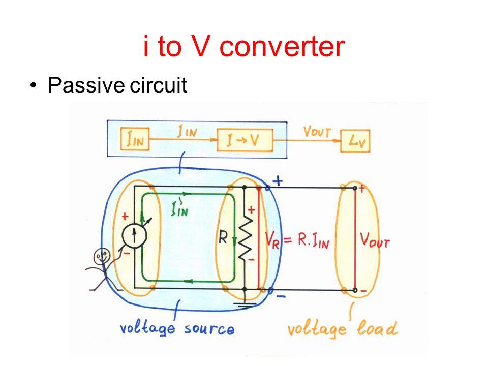 i to V converter Passive circuit