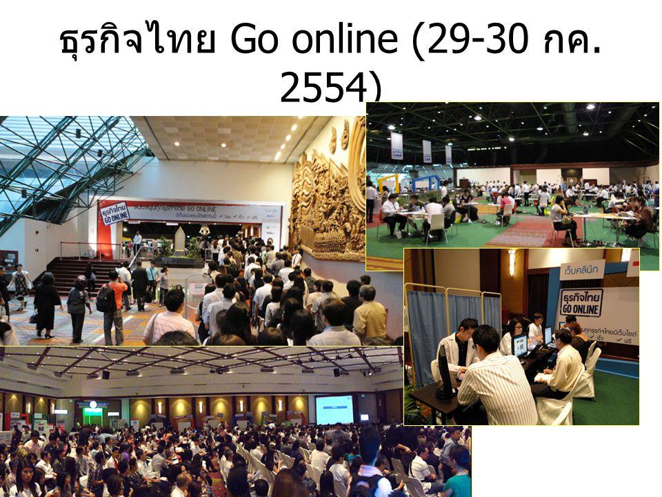 ธุรกิจไทย Go online (29-30 กค. 2554)
