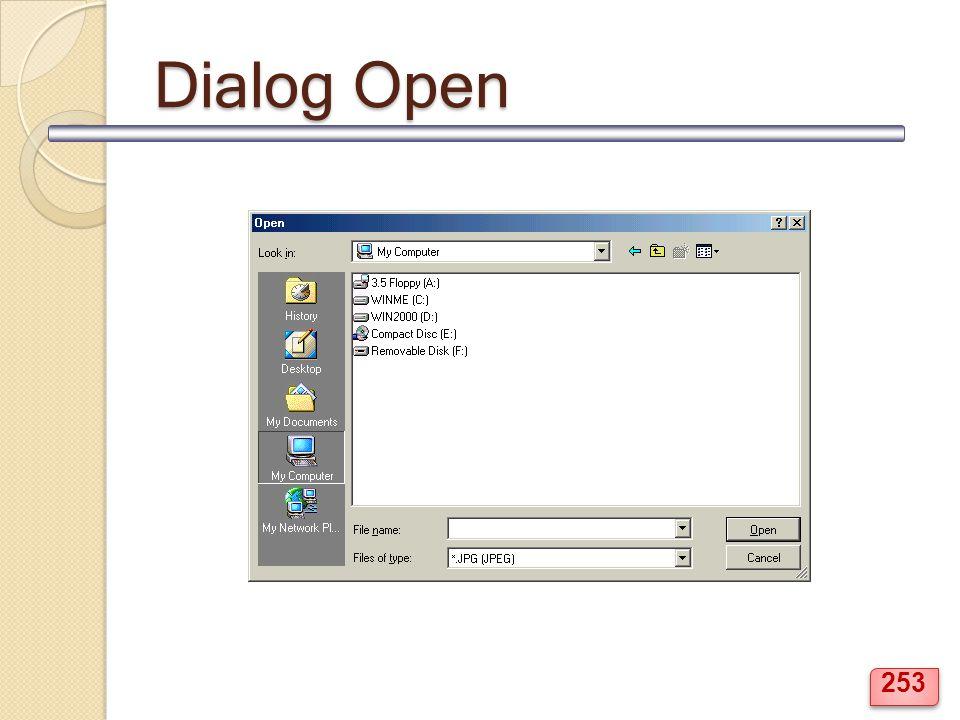Dialog Open 253