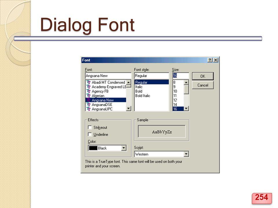 Dialog Font 254