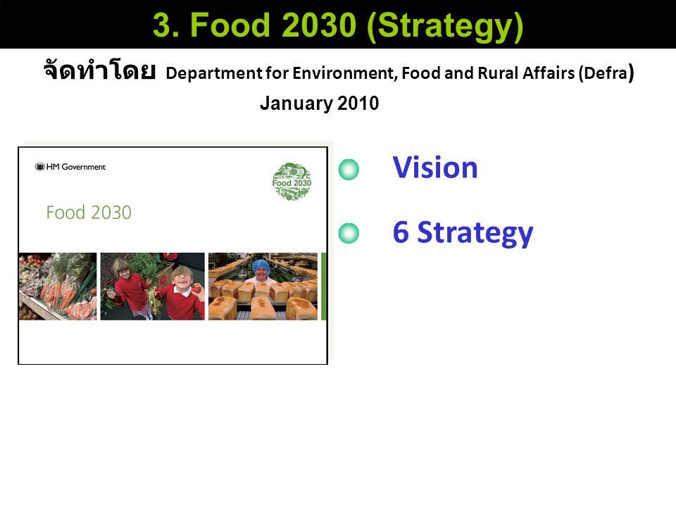 จัดทำโดย Department for Environment, Food and Rural Affairs (Defra ) 3. Food 2030 (Strategy) January 2010 Vision 6 Strategy