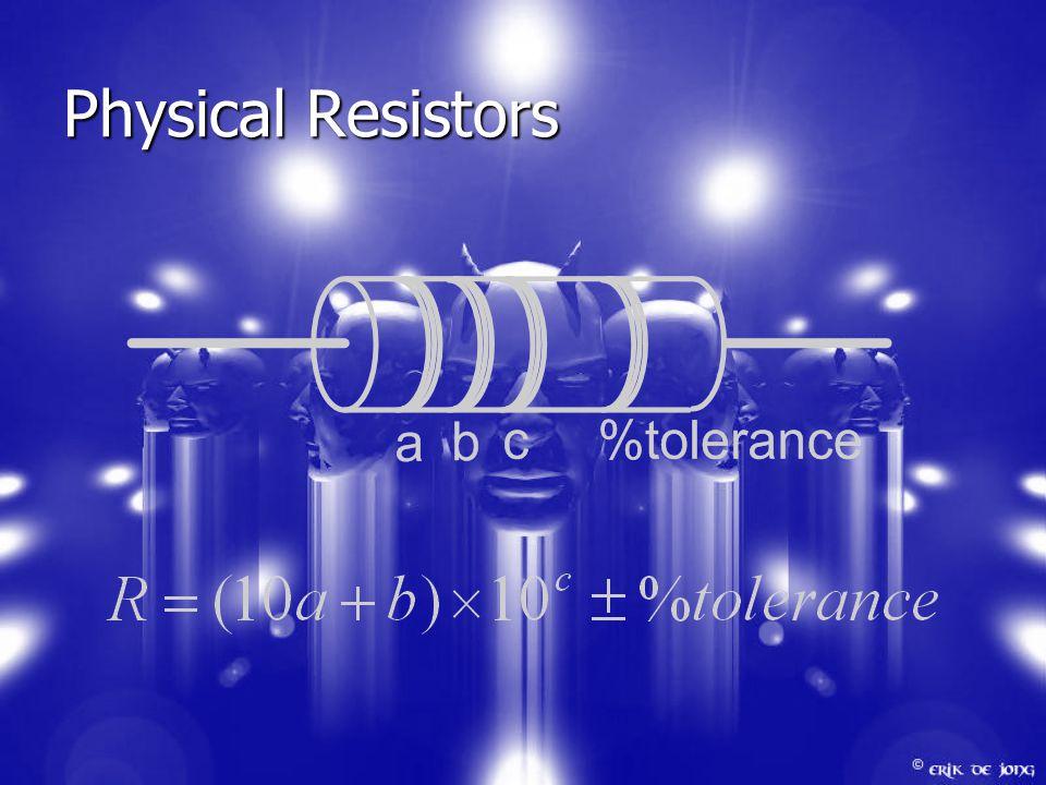 Physical Resistors