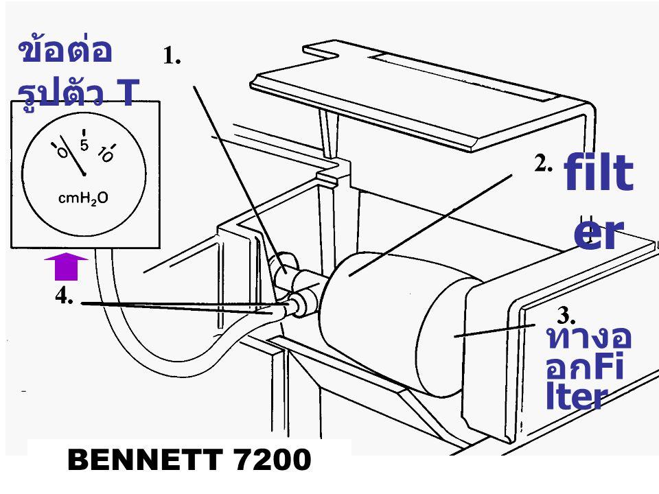 ข้อต่อ รูปตัว T filt er ทางอ อก Fi lter BENNETT 7200