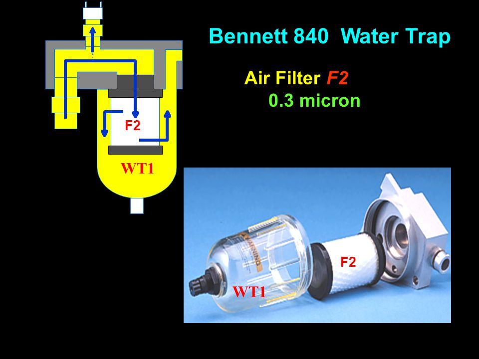 WT1 F2 Air Filter F2 0.3 micron Bennett 840 Water Trap
