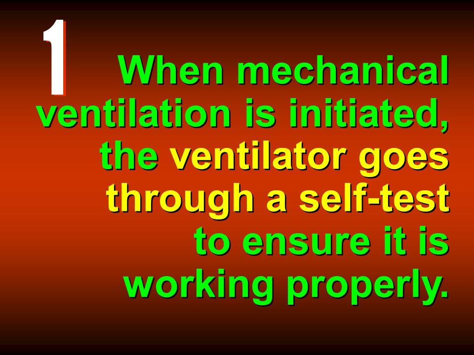 ventilator goes through a self-test Leak Test Fail !