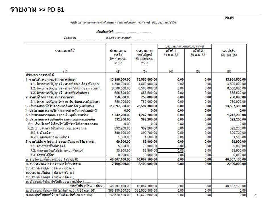 รายงาน >> PD-B1 4