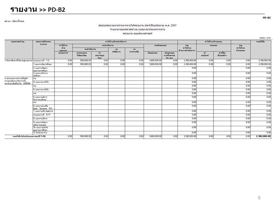 รายงาน >> PD-B2 6