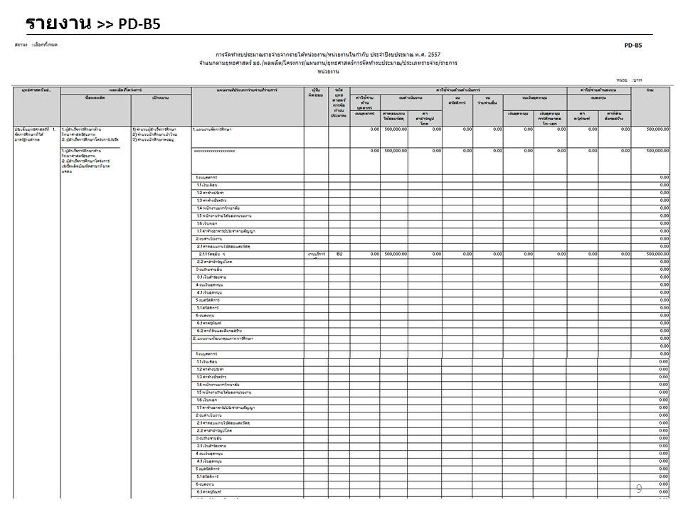 รายงาน >> PD-B5 9
